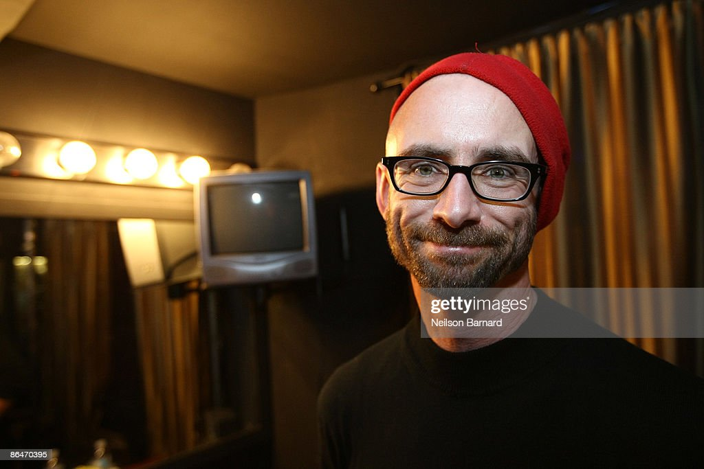 Author Chuck Palahniuk poses for a photograph during a reading hosted by Strand Bookstore at Webster Hall May 6, 2009 in New York City.