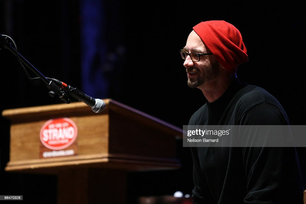 Author Chuck Palahniuk speaks to the audience during a reading hosted by Strand Bookstore at Webster Hall May 6, 2009 in New York City.
