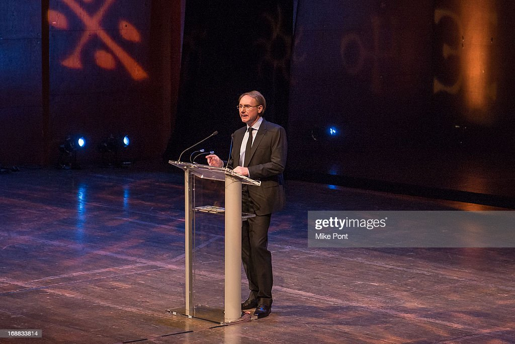 Author Dan Brown speaks at the Dan Brown 'Inferno' Book Launch Event at Avery Fisher Hall at Lincoln Center for the Performing Arts on May 15, 2013 in New York City.
