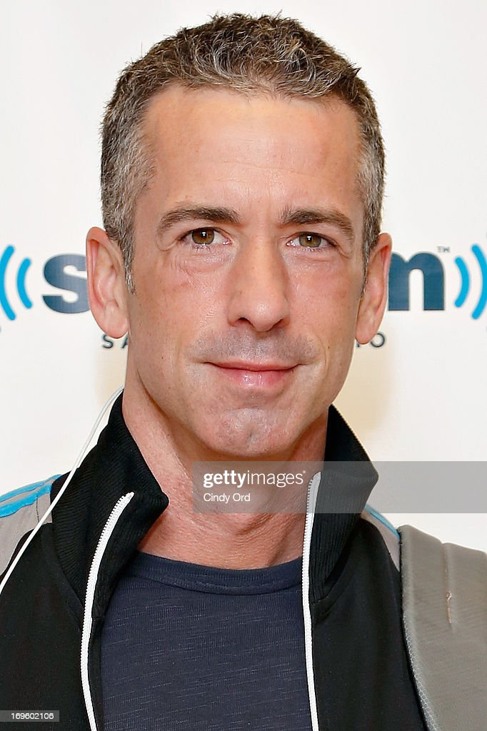 Author <a gi-track='captionPersonalityLinkClicked' href=/galleries/search?phrase=Dan+Savage&family=editorial&specificpeople=4170680 ng-click='$event.stopPropagation()'>Dan Savage</a> visits the SiriusXM Studios on May 28, 2013 in New York City.