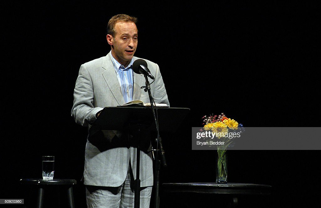 Author <a gi-track='captionPersonalityLinkClicked' href=/galleries/search?phrase=David+Sedaris&family=editorial&specificpeople=1056693 ng-click='$event.stopPropagation()'>David Sedaris</a> Reads A short story at the Symphony Space with <a gi-track='captionPersonalityLinkClicked' href=/galleries/search?phrase=David+Sedaris&family=editorial&specificpeople=1056693 ng-click='$event.stopPropagation()'>David Sedaris</a> presents selected shorts June 2, 2004 in New York City.