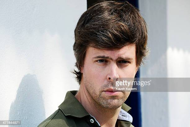 Author David Szalay nominated for the Granta Young British novelist poses outside the Julio Flores Museum and former home of the famous Colombian...