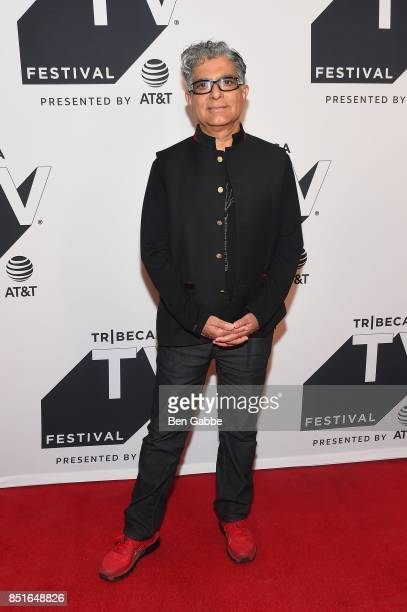 Author Deepak Chopra attends the Tribeca TV Festival season premiere of Religion of Sports at Cinepolis Chelsea on September 22 2017 in New York City