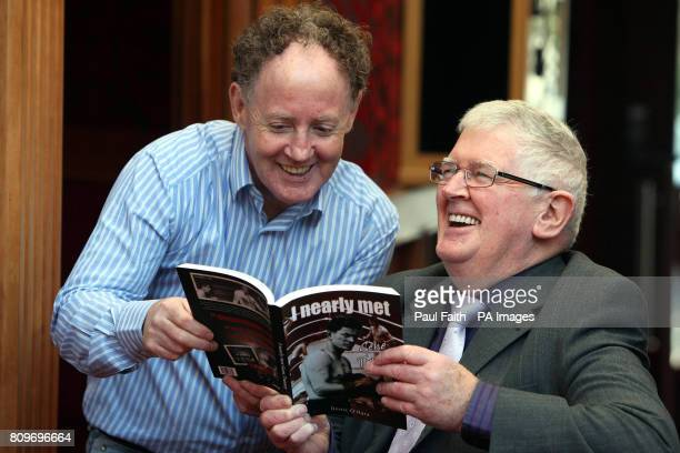 Author Denis O'Hara at the launch of his new book 'I nearly met Gene Tunney' at the Balmoral hotel in Belfast with Hugh Russell former undefeated...