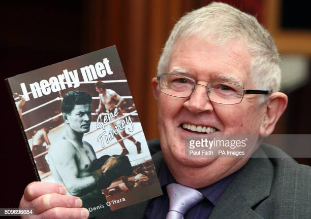 Author Denis O'Hara at the launch of his new book 'I nearly met Gene Tunney' at the Balmoral hotel in Belfast