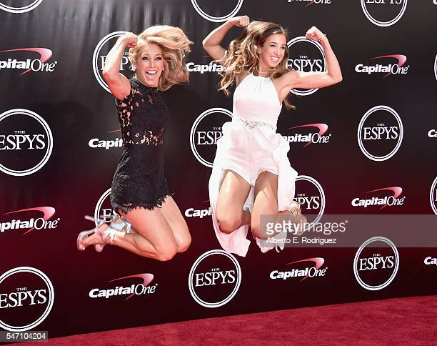 Author Denise Austin and Katie Austin attend the 2016 ESPYS at Microsoft Theater on July 13 2016 in Los Angeles California