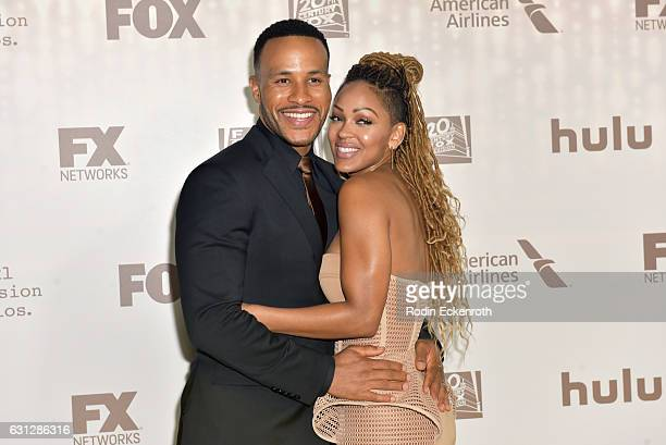 Author DeVon Franklin and actress Meagan Good attend FOX and FX's 2017 Golden Globe Awards after party at The Beverly Hilton Hotel on January 8 2017...