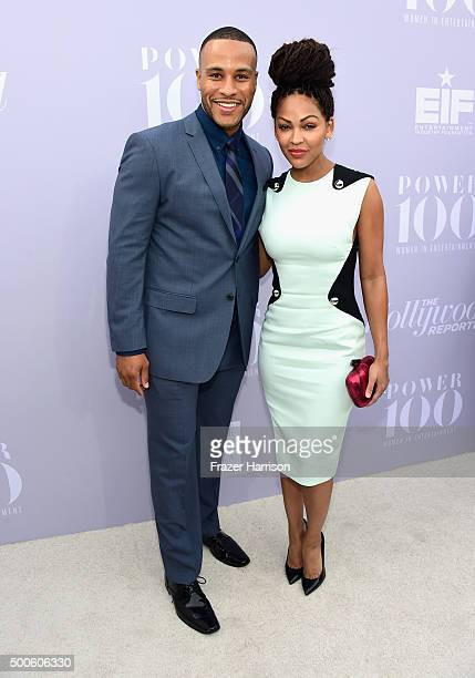 Author DeVon Franklin and actress Meagan Good attend the 24th annual Women in Entertainment Breakfast hosted by The Hollywood Reporter at Milk...