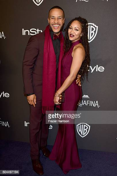Author DeVon Franklin and actress Meagan Good attends InStyle and Warner Bros 73rd Annual Golden Globe Awards PostParty at The Beverly Hilton Hotel...