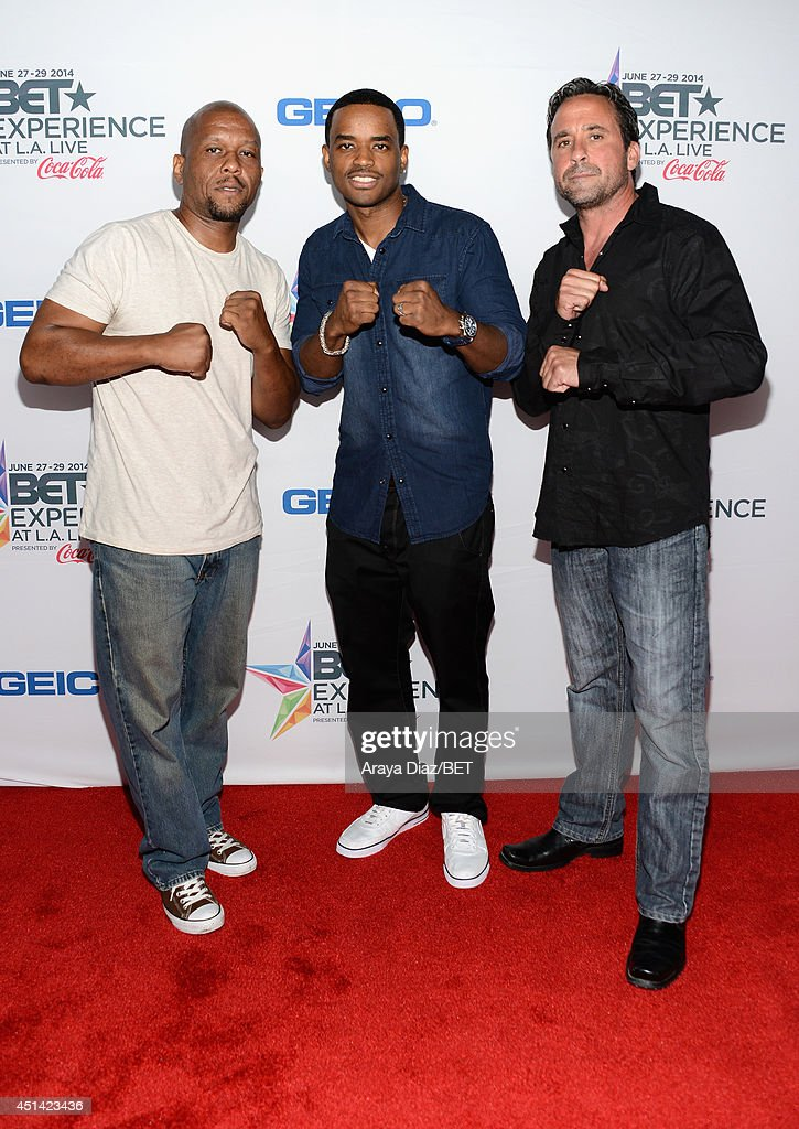 Author Diallo Frazier, actor <a gi-track='captionPersonalityLinkClicked' href=/galleries/search?phrase=Larenz+Tate&family=editorial&specificpeople=240287 ng-click='$event.stopPropagation()'>Larenz Tate</a> and actor Mark Parra attend the BETX Film Festival presented by Geico during the 2014 BET Experience At L.A. LIVE on June 28, 2014 in Los Angeles, California.