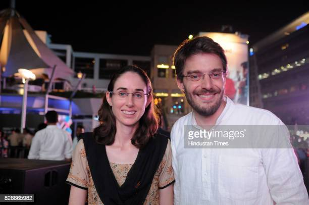 Author Diane Cossey and Dean Cossey during the 4th season finale of Hindustan Times Friday Jam on August 4 2017 in Gurgaon India The film addresses...