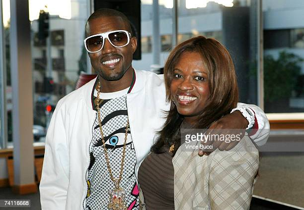 Author Donda West and her son hiphop performer Kanye West atend a book signing for her book 'Raising Kanye Life Lessons from the Mother of a HipHop...