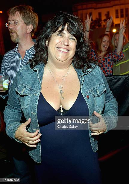 Author E L James attends the Playboy and Universal Pictures' 'KickAss 2' event at ComicCon sponsored by AXE Black Chill on July 19 2013 in San Diego...