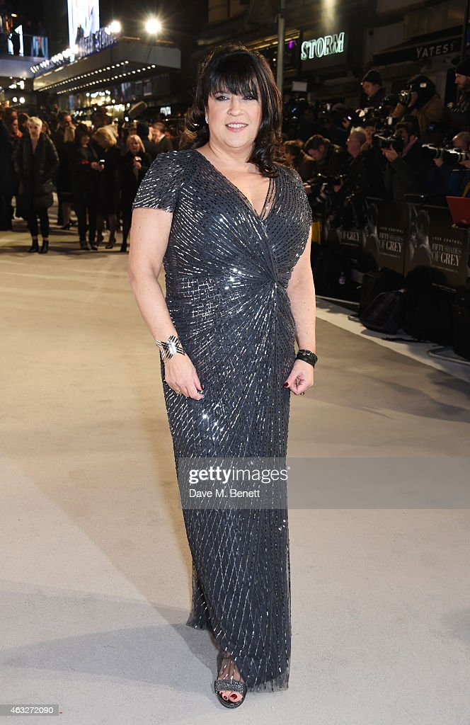 Author E.L. James attends the UK Premiere of 'Fifty Shades Of Grey' at Odeon Leicester Square on February 12, 2015 in London, England.