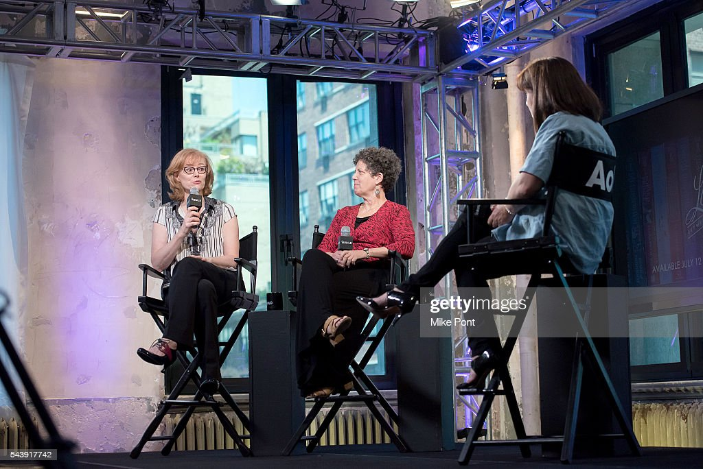 Author Eloisa James and director Laurie Kahn attend the AOL Build Series to discuss the new documentary 'Love Between The Covers' at AOL Studios In New York on June 30, 2016 in New York City.