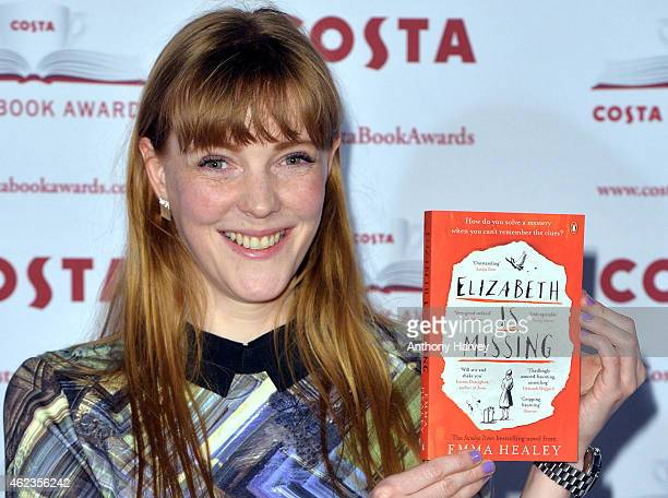 Author Emma Healey Costa First Novel Award Winner attends the Costa Book of the Year Awards at Quaglinos on January 27 2015 in London England