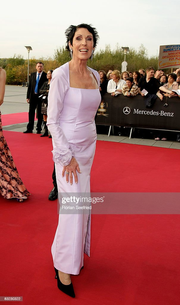 Author Erika Berger arrives for the German TV Award 2008 at the Coloneum on October 11, 2008 in Cologne, Germany.