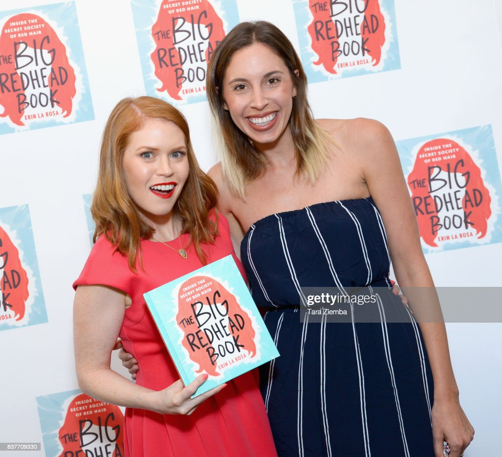 Author Erin La Rosa and Lara Parker attend the book launch celebration for Erin La Rosa's 'The Big Redhead Book' at Blushington on August 22, 2017 in West Hollywood, California.