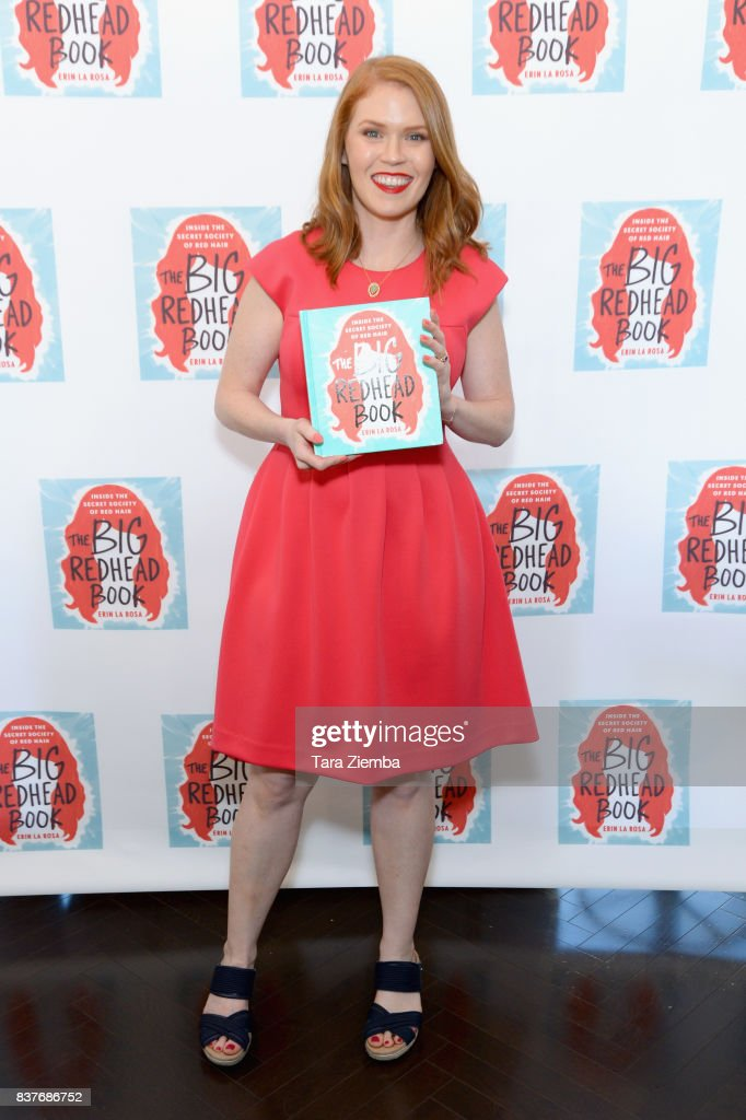 Author Erin La Rosa attends her book launch celebration for 'The Big Redhead Book' at Blushington on August 22, 2017 in West Hollywood, California.