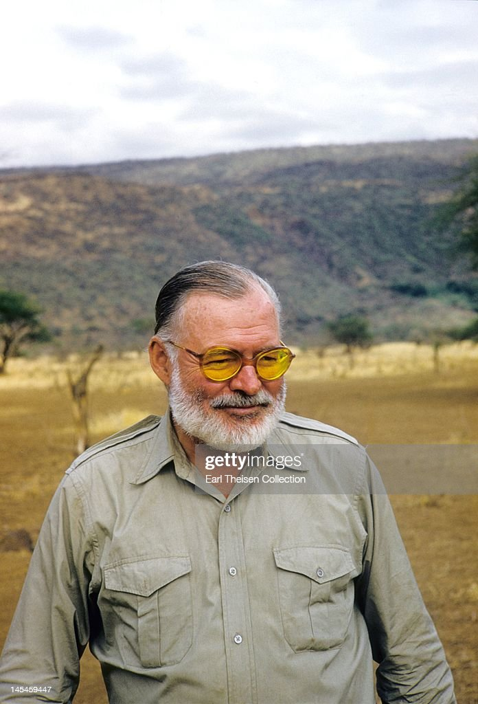 Author <a gi-track='captionPersonalityLinkClicked' href=/galleries/search?phrase=Ernest+Hemingway&family=editorial&specificpeople=93360 ng-click='$event.stopPropagation()'>Ernest Hemingway</a> poses for a portrait while on a big game hunt in September 1952 in Kenya.
