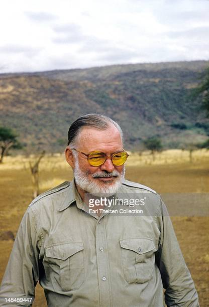 Author Ernest Hemingway poses for a portrait while on a big game hunt in September 1952 in Kenya