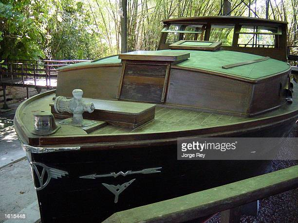Author Ernest Hemingway's fishing boat El Pilar is seen at the villa he called home from 19391960 November 11 2002 outside Havana Cuba Cuban...