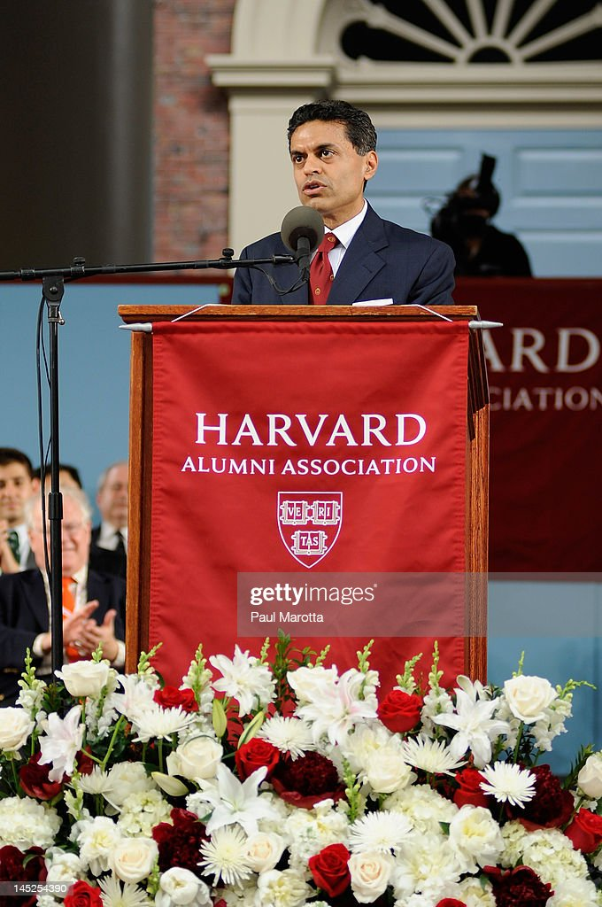 Author Fareed Zakaria attends the Annual Meeting of the Harvard University Alumni Association at the 2012 Harvard Commencement on May 24, 2012 in Cambridge, Massachusetts.