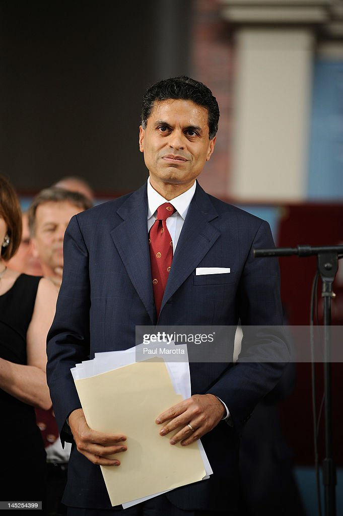 Author <a gi-track='captionPersonalityLinkClicked' href=/galleries/search?phrase=Fareed+Zakaria&family=editorial&specificpeople=3433767 ng-click='$event.stopPropagation()'>Fareed Zakaria</a> attends the Annual Meeting of the Harvard University Alumni Association at the 2012 Harvard Commencement on May 24, 2012 in Cambridge, Massachusetts.