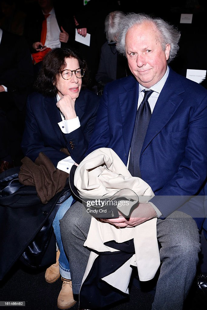 Author Fran Lebowitz (L) and Vanity Fair editor Graydon Carter attend the Carolina Herrera Fall 2013 fashion show during Mercedes-Benz Fashion Week at The Theatre at Lincoln Center on February 11, 2013 in New York City.