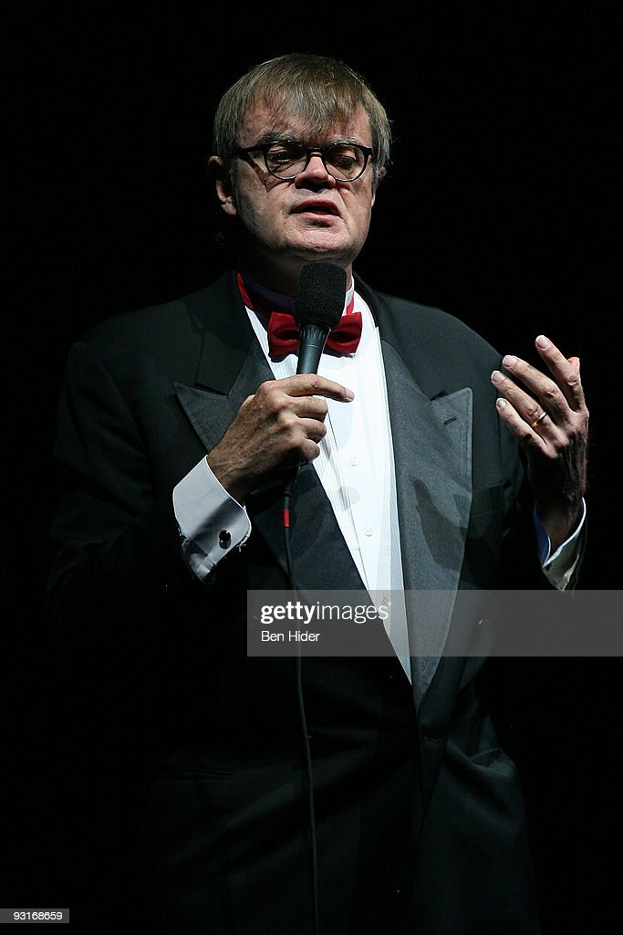 Author <a gi-track='captionPersonalityLinkClicked' href=/galleries/search?phrase=Garrison+Keillor&family=editorial&specificpeople=594099 ng-click='$event.stopPropagation()'>Garrison Keillor</a> speaks during the 2009 Moth Ball at Capitale on November 17, 2009 in New York City.