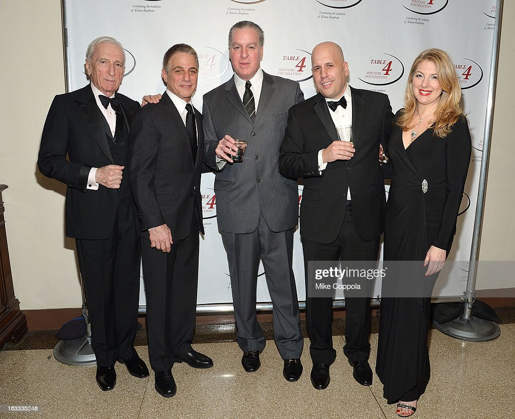 Author Gay Talese, actor Tony Danza, guest, Table 4 Writers Foundation Chair, Carmine Izzi, and Jenine Lepera Izzi attend the Table 4 Writers Foundation 1st Annual Awards Gala on March 7, 2013 in New York City.