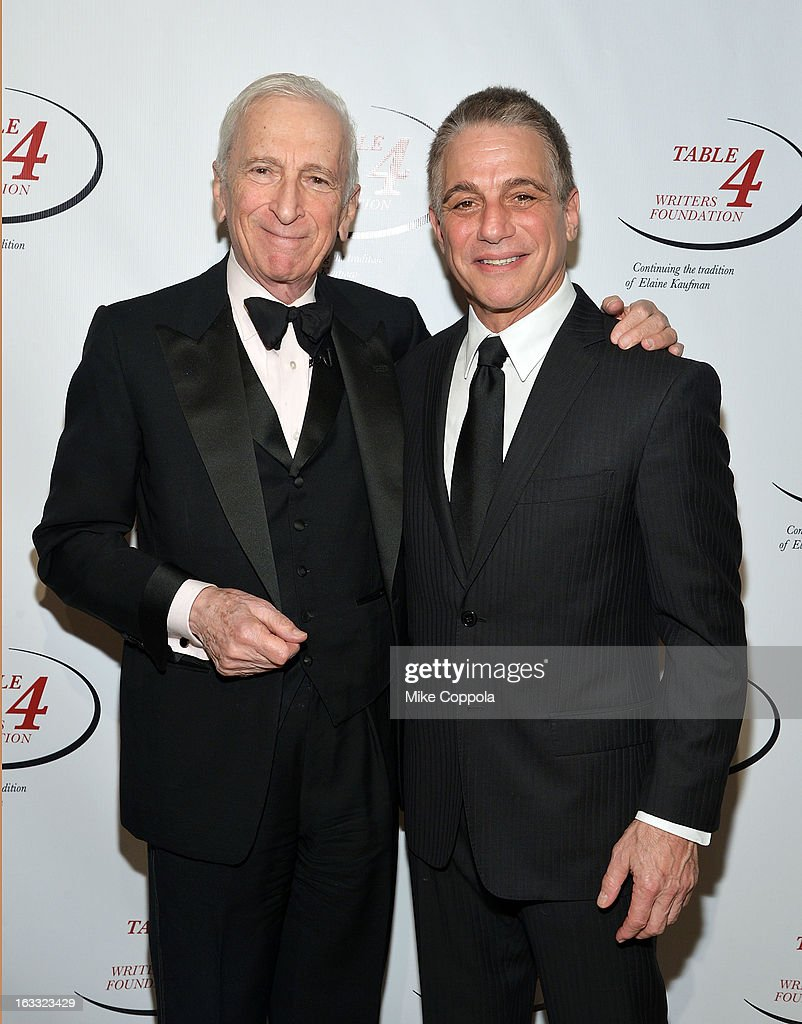 Author <a gi-track='captionPersonalityLinkClicked' href=/galleries/search?phrase=Gay+Talese&family=editorial&specificpeople=224015 ng-click='$event.stopPropagation()'>Gay Talese</a> (L) and actor <a gi-track='captionPersonalityLinkClicked' href=/galleries/search?phrase=Tony+Danza&family=editorial&specificpeople=203133 ng-click='$event.stopPropagation()'>Tony Danza</a> attend the Table 4 Writers Foundation 1st Annual Awards Gala on March 7, 2013 in New York City.