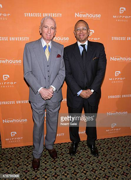 Author Gay Talese and Executive editor of The New York Times Dean Baquet attend the Mirror Awards '15 at Cipriani 42nd Street on June 11 2015 in New...