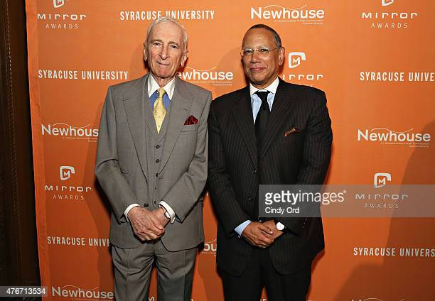 Author Gay Talese and journalist/ executive editor at The New York Times Dean Baquet attend the Mirror Awards '15 at Cipriani 42nd Street on June 11...