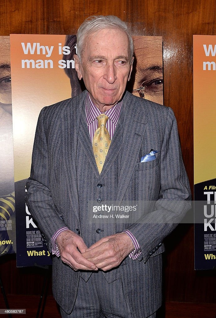Author <a gi-track='captionPersonalityLinkClicked' href=/galleries/search?phrase=Gay+Talese&family=editorial&specificpeople=224015 ng-click='$event.stopPropagation()'>Gay Talese</a> attends the 'The Unknown Known' screening at Museum of Art and Design on March 25, 2014 in New York City.