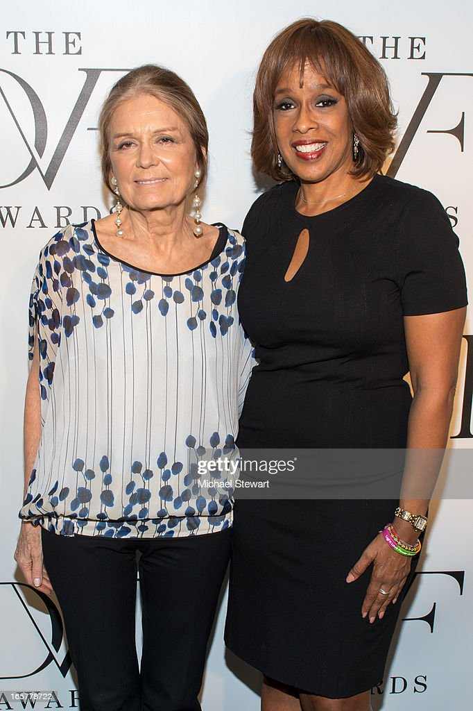 Author <a gi-track='captionPersonalityLinkClicked' href=/galleries/search?phrase=Gloria+Steinem&family=editorial&specificpeople=213078 ng-click='$event.stopPropagation()'>Gloria Steinem</a> (L) and tv personality <a gi-track='captionPersonalityLinkClicked' href=/galleries/search?phrase=Gayle+King&family=editorial&specificpeople=215469 ng-click='$event.stopPropagation()'>Gayle King</a> attend the 2013 DVF Awards at the United Nations on April 5, 2013 in New York City.