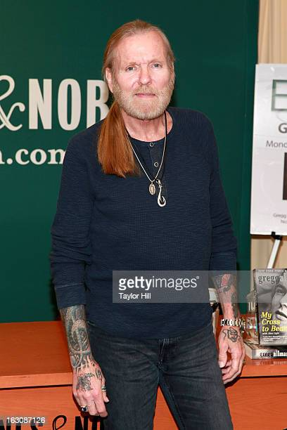 Author Gregg Allman of The Allman Brothers Band promotes the paperback release of his memoir 'My Cross To Bear' at Barnes Noble 5th Avenue on March 4...