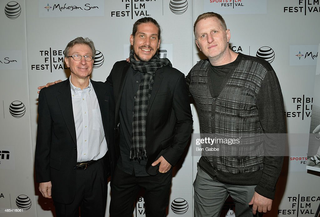 Author Harvey Araton, Jason Bergh, and director Michael Rappaport attend the Tribeca/ESPN Sports Film Festival Gala: 'When The Garden Was Eden' during the 2014 Tribeca Film Festival at BMCC Tribeca PAC on April 17, 2014 in New York City.