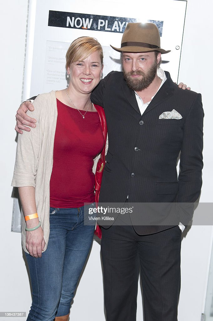 Author Heather Donahue and director Joshua Leonard attend 'The Lie' Los Angeles Special Screening at The Downtown Independent on January 4 2012 in...