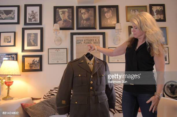 Author Heather Shreve who recently received a uniform from a collector who had purchased an Army colonel's uniform at a thrift store in Washington...