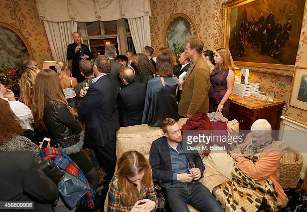 Author Ian Kelly speaks at Mark's Club for the Vivienne Westwood Autobiography Launch on October 7 2014 in London England