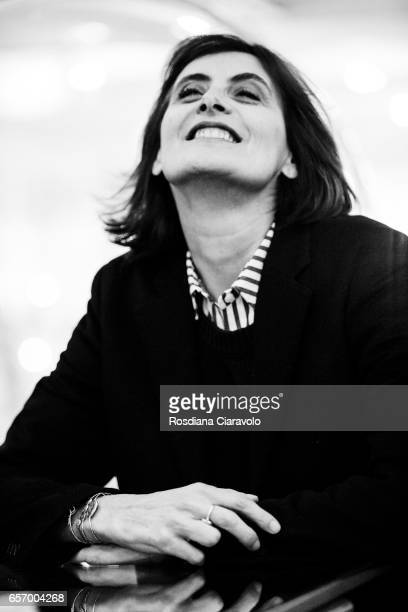 Author Ines De La Fressange during the presentaion of her book 'Parisian Chic Look Book What Should I Wear Today' at the Galleria Carla Sozzani on...