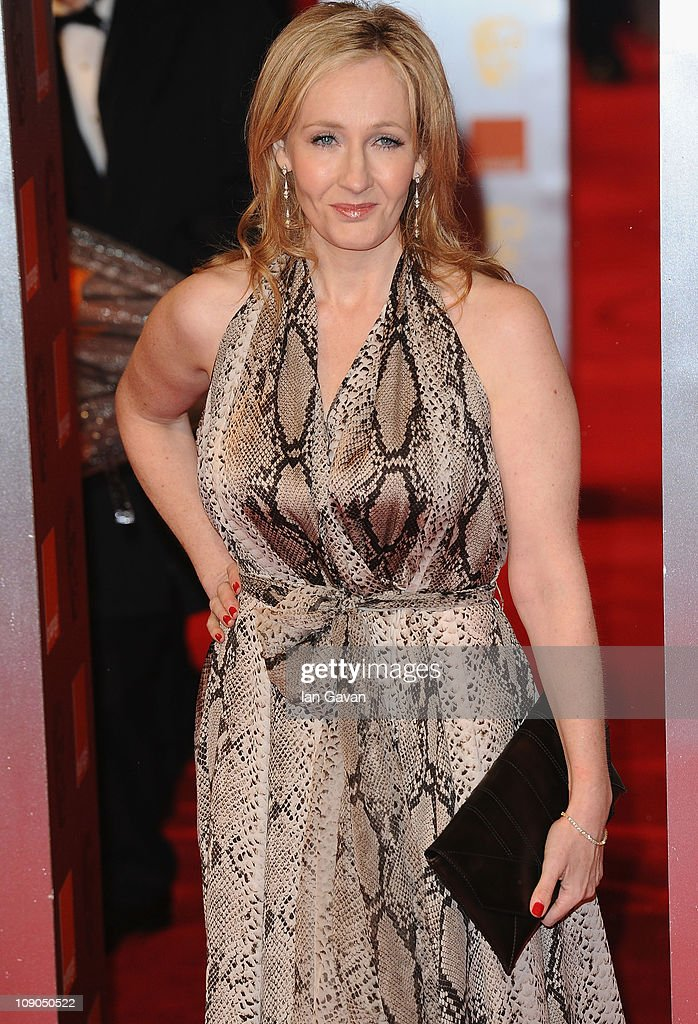 Author J K Rowling arrives for the Orange British Academy Film Awards at The Royal Opera House on February 13, 2011 in London, England.