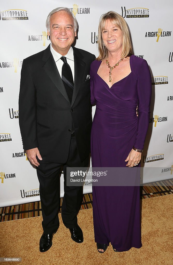 Author Jack Canfield (L) and wife Inga Canfield attend the 4th Annual Unstoppable Gala at the Beverly Wilshire Four Seasons Hotel on March 16, 2013 in Beverly Hills, California.