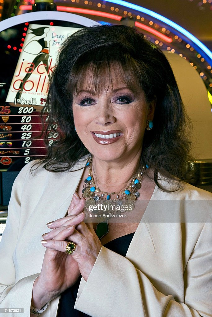 Jackie Collins Unveils Her New Slot Machines At Harrahs