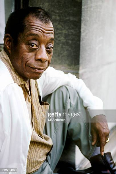 Author James Baldwin poses while in ParisFrance on the 16th of September 1984