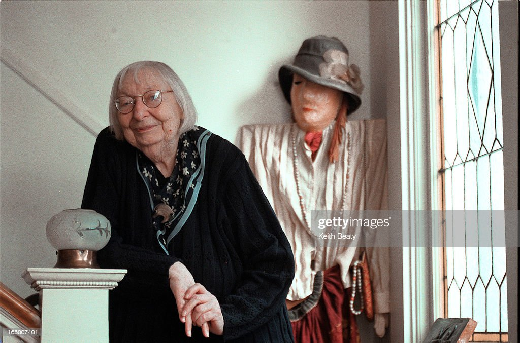 author Jane Jacobs at home. She refused to be fotographed at her typewriter or on her front porch due to cliche factor.