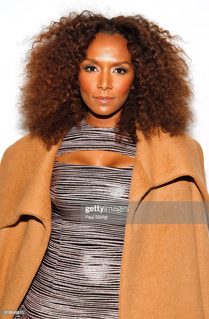 Author Janet Mock poses backstage at the Christian Siriano Fall 2016 fashion show during New York Fashion Week at ArtBeam on February 13, 2016 in New York City.