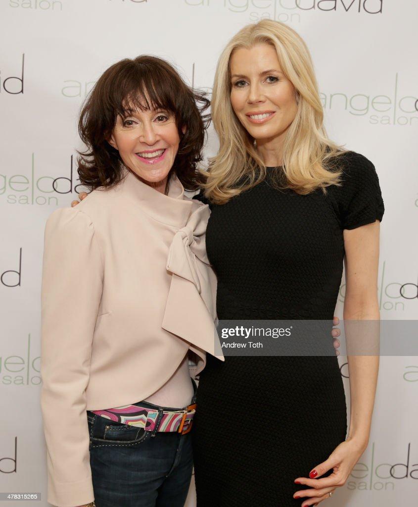 Author Janis Spindel (L) and Aviva Drescher attend Aviva Drescher's 'Leggy Blonde' book launch celebration at Angelo David Salon on March 12, 2014 in New York City.