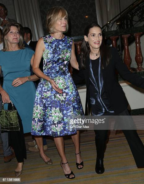 Author Jennifer Egan television personality Willow Bay and actress Winona Ryder are seen on September 28 2016 in Los Angeles California